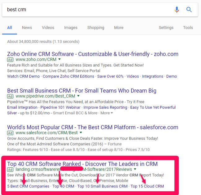 ricerca di AdWords